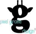 Pixel Giraffe Design